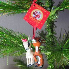 Rudolph and Clarice Ornament by Department 56 4039749