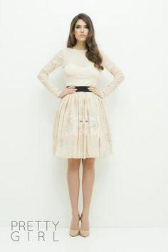 Fusta Tale Princess Lacy Cream Cream Skirt, Midi Skirt, Princess, Sexy, Skirts, Collection, Fashion, Moda, Skirt