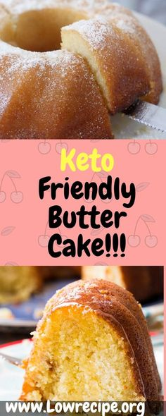 """Butter cake has always been a favorite of mine ever since I can remember. After starting my Keto journey I was determined to see if I could """"Ketofy"""" this recipe or at least make it low carb in some way. After a few attempts, I finally have one I am extre Keto Foods, Ketogenic Recipes, Keto Snacks, Low Carb Recipes, Cooking Recipes, Healthy Recipes, Keto Desserts, Dessert Recipes, Cooking Time"""