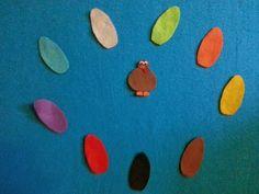 Mr. Turkey-- color recognition activity