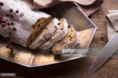 Stock Photo : Christmas stollen with raisins
