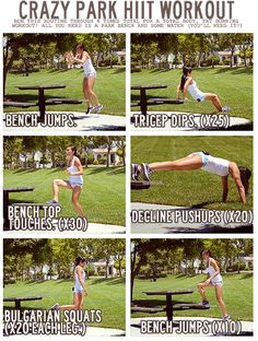 Quick workout you can do in the park or maybe in your backyard while kids are playing!