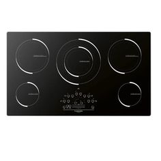 Watershed Appliance-Fulgor F6IT36S1 Induction cooktop 36inch with aluminum frame stainless steel color and glass ceramic 600 Series