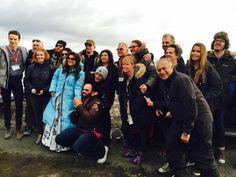 SRK , Kajol , Rohit Shetty , Farah Khan and Team Dilwale in Iceland