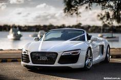 Audi R8 Wedding Car Hire in Sydney by Astra Wedding Cars. Found on itsHIRED.com.au