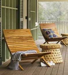 Great outdoor chairs.