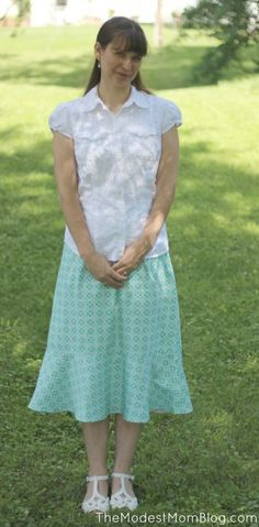 The Modest Mom Summer Fashion - Ruffle Skirt from Deborah and Co!
