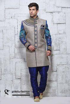 trendy sherwani 2015, marriage shervani pajama suit 2015