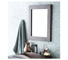 Sedona Rectangle Mirror by Native Trails   A joy to behold - Sedona Rectangle draws attention and opens up a room with its elegant beveled mirror, rich, attentive color, and prominent corners. #design #interiordesign #interiordesignmagazine #decor #mirror @nativetrails