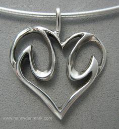 sterling silver descending dove in heart pendant © Nancy Denmark