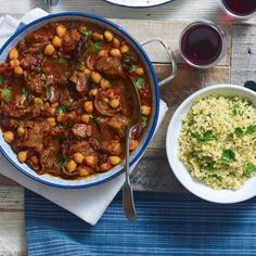 This wonderfully fragrant lamb recipe is simple to make. If you can't find bulgur wheat for the tabbouleh use couscous.
