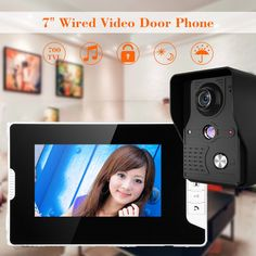 "7"" LCD Wired Video Door Phone Doorbell Entry Intercom System IR Camera 1-Monitor - $56.49 - 56.49"