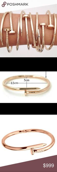 Coming soon! Nail Rose Gold Trendy Bracelet Jewelry Bracelets