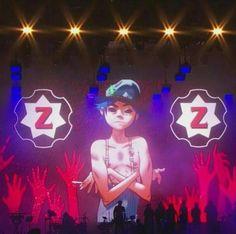 Gorillaz live 2D