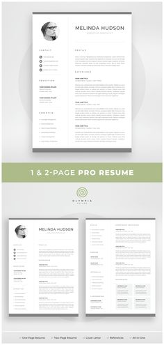 1 Page Resume Fascinating Resume Template  1 Page Resume  2 Page Resume  Professional Cv .