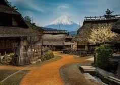 Mount Fuji from the village of Saiko