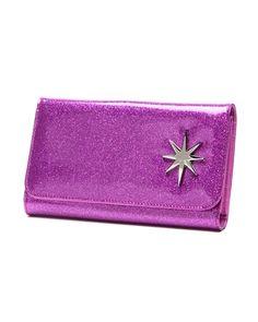 Lux de Ville Starlite Wallet Violet Sparkle Front