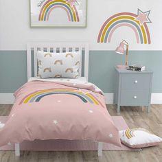 Girls Bedroom, Cozy Bedroom, Modern Paint Colors, Rainbow Bedroom, Kids Bedroom Designs, Little Girl Rooms, Baby Decor, Bedroom Colors, New Room