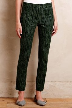 Printed Charlie Trousers - anthropologie.com