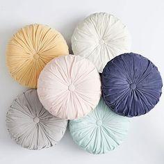 Velvet Pleated Round Pillow #pbteen Designers Guild, Sofa Design, Design Design, Apartment Inspiration, Vs Pink, Blush Pink, Emily And Meritt, Velvet Pillows, Beach House Decor