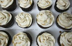 ... vanilla cream cheese frosting and a dr pepper reduction glaze. yum