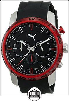 PUMA TIME Essence Chrono - Reloj cronógrafo de cuarzo para hombre, correa de resina (cronómetro), color rojo de  ✿ Relojes para hombre - (Gama media/alta) ✿