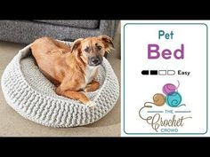 How to Crochet A Pet Bed: S - XL Sizes - YouTube