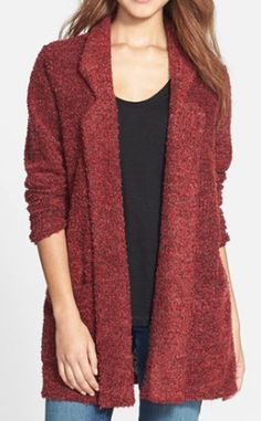 notch collar boucle cardigan  http://rstyle.me/n/tqcbepdpe