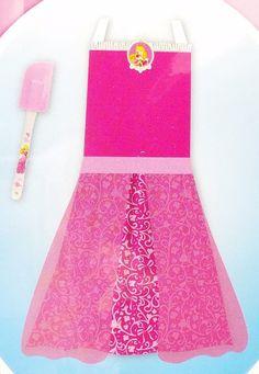 Disney Princess Pink Apron Dress Up Play Set Sleeping Beauty Aurora 2pc New #Disney