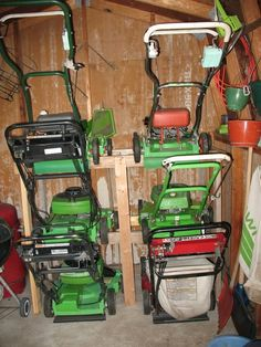 Mower Storage Ideas Maybe Not For 6 But Could Probably Do Something Like This