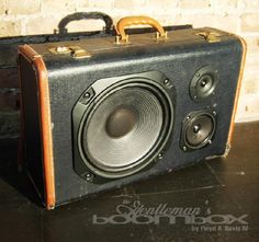 BoomBox Suitcase - how awesome would a guitar amp like this be?