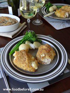 Stuffed Crumbed Chicken Recipe