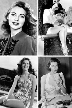 Ava Gardner - 1922-1990 - Actrice américaine. Tourne avec Siodmak, Ford, Albert Lewin (Pandora) et Mankiewicz (The Barefoot contessa)...