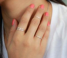 Silver Knuckle Band Ring