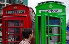 """Crean una cabina """"verde"""" para recargar el celular http://publimetro.pe/actualidad/noticia-crean-cabina-verde-recargar-celular-27474"""