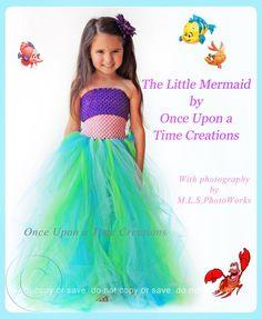 The Little Mermaid Inspired Princess Tutu Dress - Birthday Outfit, Photo Prop, Halloween Costume - - Disney Ariel Inspired. via Etsy.