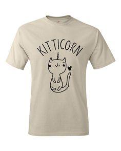 Cute Cat T-Shirt Kitty Kitten T Shirt Tee Mens Womens Ladies Funny Humor Gift Present I Love Cats Animal Lover Unicorn Caticorn Heart Pet