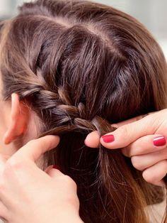 Kurze Haare Flechten Frisuren Mit Anleitung Hair Nails Makeup