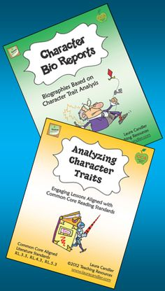 Character Study Combo - Two of my best-selling products together in one combo pack. Character Bio Reports and Analyzing Character Traits are both aligned with Common Core State Standards. Preview them both from this page and save when you purchase them together. $