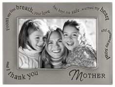 """Malden International Designs Metal Sentiments Wavy Words """"Mother"""" Picture Frame, 4 by 6-Inch"""