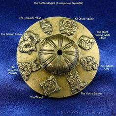 Ashtamangala or 8 auspicious symbols