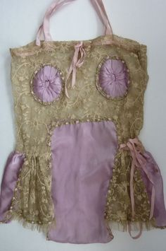1930s Lingerie Lace and Silk Teddy