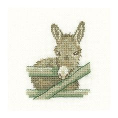 Donkey Cross Stitch Kit by Heritage Crafts is from The Little Friends range of designs based on the artwork of Susan Ryder and Valerie Pfeiffer.