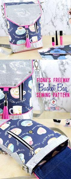 bag sewing patterns | bucket bag pattern | fiona's freeway bag sewing pattern | free bag patterns | how to sew a bucket bag | beginner bag patterns