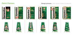 kamenitza label redesign process, beer