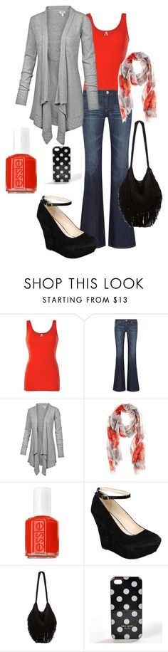 """Untitled #51"" by chellebelle28 ❤ liked on Polyvore featuring BKE, AG Adriano Goldschmied, Fat Face, Oasis, Essie, Bamboo, Indah and Kate Spade"