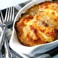 lighter food version   LIGHT VERSION OF SCALLOPED POTATOES AND HAM.