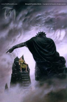 Morgoth Punishes Húrin - Ted Nasmith