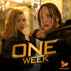 ONE WEEK left! Are you ready to witness the epic conclusion to The Hunger Games: #MockingjayPart2? Get tickets now: http://hungrgam.es/mockingjaytix