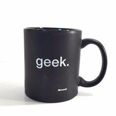 Microsoft Geek Black Coffee Mug Cup #Microsoft